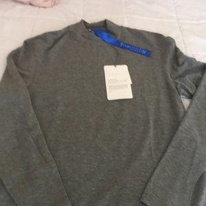 KIT ACE. Tech cashmere brushed sleeve mock t-neck